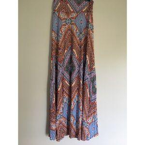 ReneeC vibrant print maxi skirt